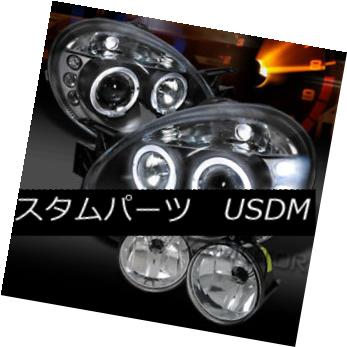 ヘッドライト 03-05 Dodge Neon Halo LED DRL Projector Headlights+Clear Bumper Fog Lamps 03-05 Dodge Neon Halo LED DRLプロジェクターヘッドライト+ Cle  arバンパーフォグランプ