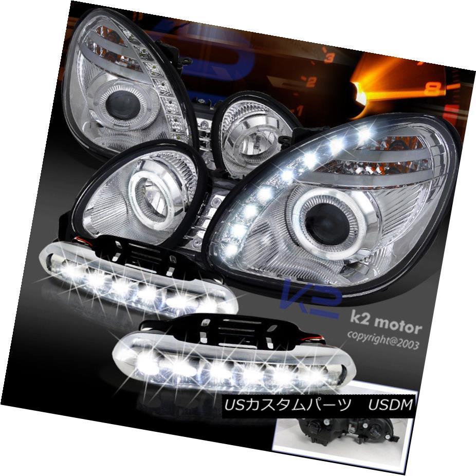 ヘッドライト 98-05 Lexus GS300 GS400 Halo SMD Projector Headlights+LED DRL Bumper Fog Lamps 98-05 Lexus GS300 GS400ハローSMDプロジェクターヘッドライト+ LED DRLバンパーフォグランプ