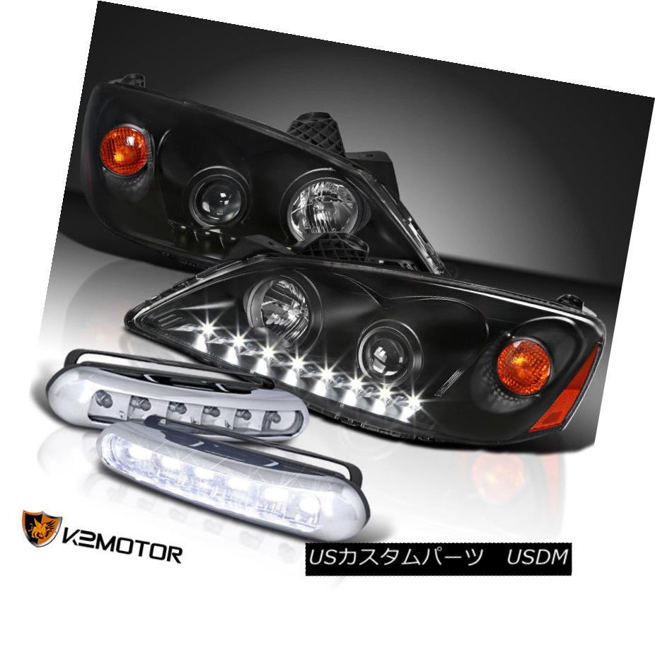 ヘッドライト 2005-2010 Pontiac G6 LED Projector Headlights Black+LED Fog Driving Bumper Lamps 2005年?2010年Pontiac G6 LEDプロジェクターヘッドライトブラック+ LEDフォグ駆動バンパーランプ