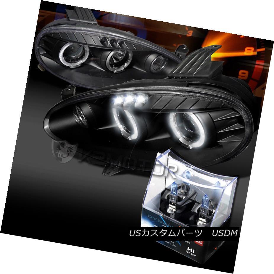 ヘッドライト 01-05 Mazda Miata MX5 Black Halo Projector Headlights+H1 Halogen Bulbs 01-05マツダMiata MX5ブラックハロープロジェクターヘッドライト+ H1ハロゲン電球