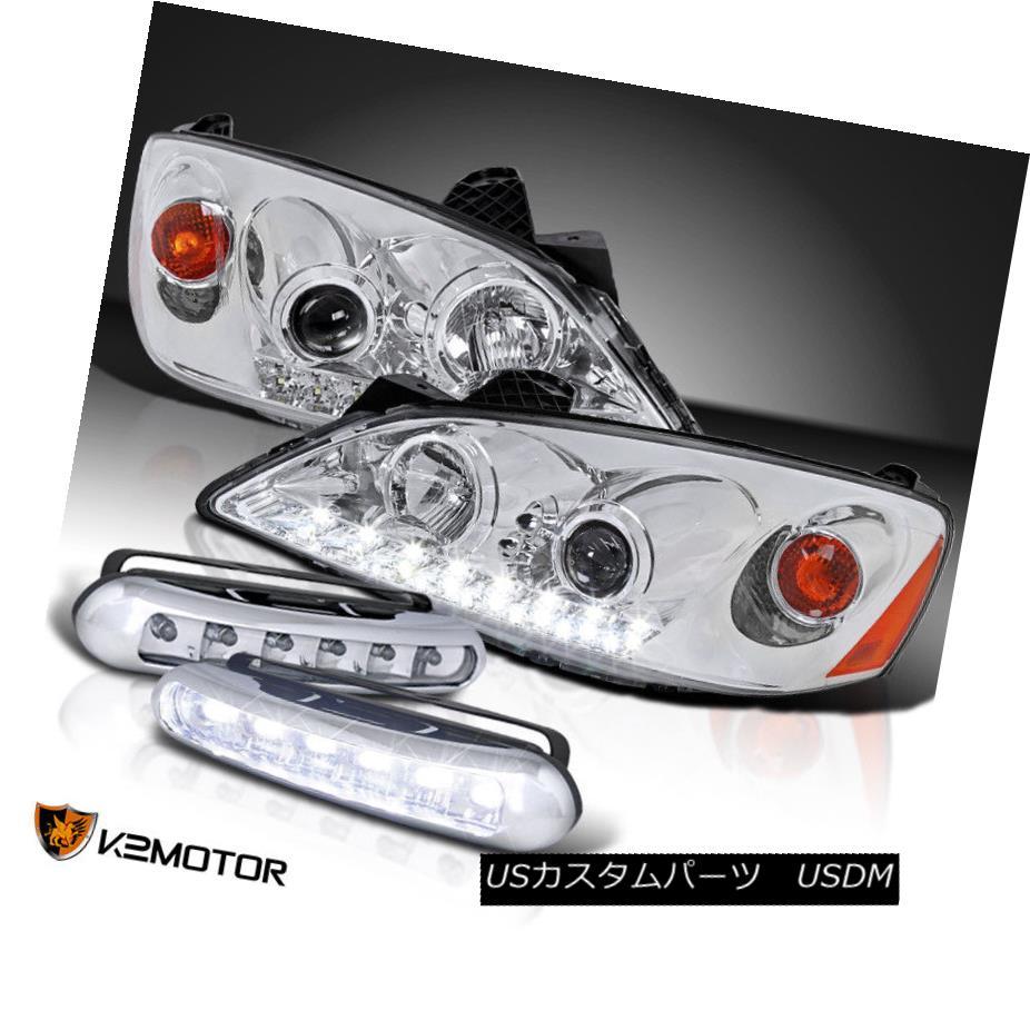 ヘッドライト 2005-2010 Pontiac G6 LED Projector Headlights+6-LED Fog Driving Bumper Lamps 2005年?2010年ポンティアックG6 LEDプロジェクターヘッドライト+ 6-L  EDフォグ駆動バンパーランプ