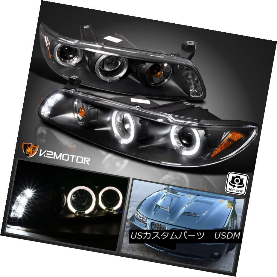 ヘッドライト 1997-2003 Pontiac Grand Prix LED Halo Projector Headlights Black Left+Right 1997年?2003年ポンティアックグランプリLEDハロープロジェクターヘッドライトブラック左/右