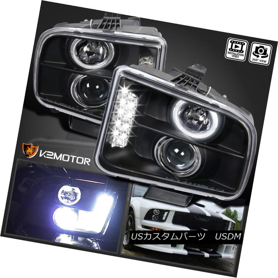 ヘッドライト 2005-2009 Ford Mustang LED DRL Projector Headlights Black 2005-2009フォードマスタングLED DRLプロジェクターヘッドライトブラック