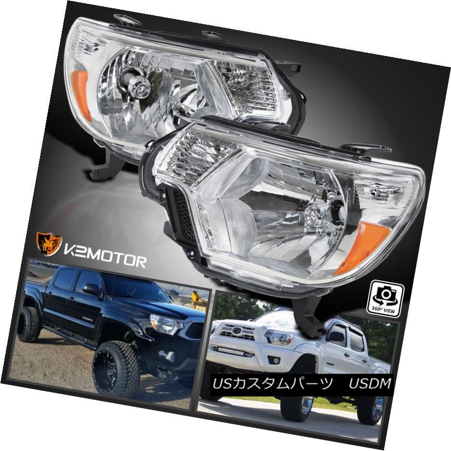 ヘッドライト For 2012-2015 Toyota Tacoma Head Lights Lamps Pickup Factory Replacement L+R トヨタタコマヘッドライトランプピックアップ工場の交換L + R