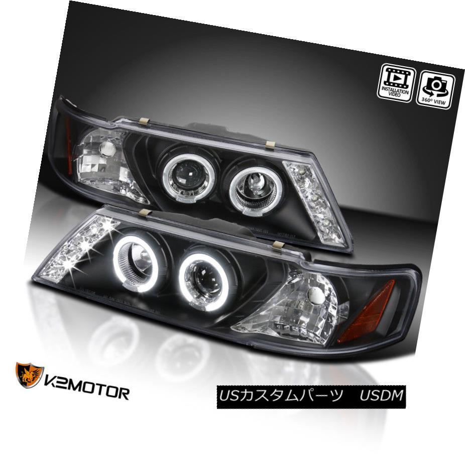 ヘッドライト Black Halo Projector LED Headlights For 1995-1999 Nissan Sentra 200Sx ブラックハロープロジェクターLEDヘッドライト1995-1999 Nissan Sentra 200Sx