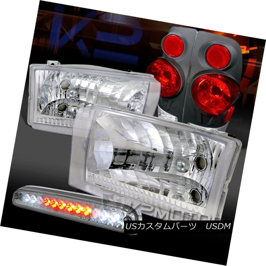 ヘッドライト 99-04 F250/350/450 Chrome Headlights+3D Black Tail Lamps+Clear LED 3rd Brake 99-04 F250 / 350/450クロームヘッドライト+ 3Dブラックテールランプ+クリアLED第3ブレーキ