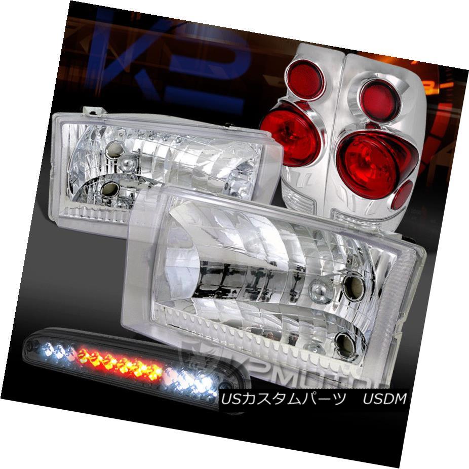ヘッドライト 99-04 Ford F250/350/450 Chrome Headlights+3D Tail Lamps+Smoke LED 3rd Brake 99-04 Ford F250 / 350/450クロームヘッドライト+ 3Dテールランプ+ Smoke LED 3rdブレーキ