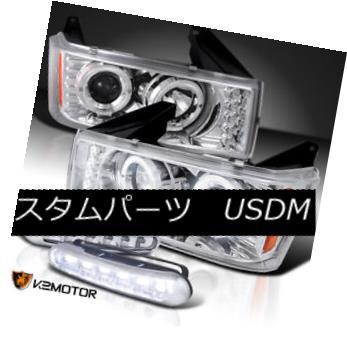 ヘッドライト 04-12 Chevy Colorado Chrome Halo Projector Headlights+LED Driving Fog Lamps 04-12 Chevy Colorado Chrome Haloプロジェクターヘッドライト+ LED駆動フォグランプ
