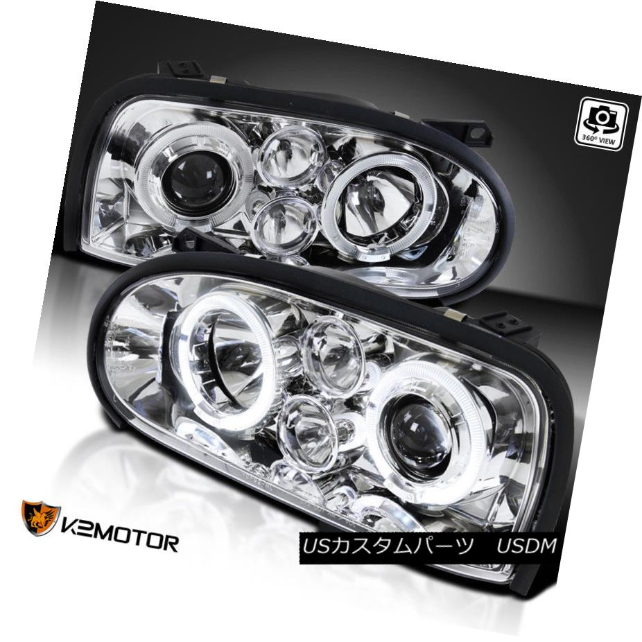 ヘッドライト For 1993-1998 VW Golf Mk3 LED Projector Headlights+Fog Lamps Replacement Pair 1993-1998 VWゴルフMk3 LEDプロジェクターヘッドライト+フォグランプ交換用ペア