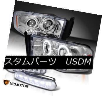 ヘッドライト Ram 02-05 Chrome Halo Projector Headlights+Running Daytime Fog Lamps Ram 02-05 Chrome Haloプロジェクターヘッドライト+ランニング 日中のフォグランプ