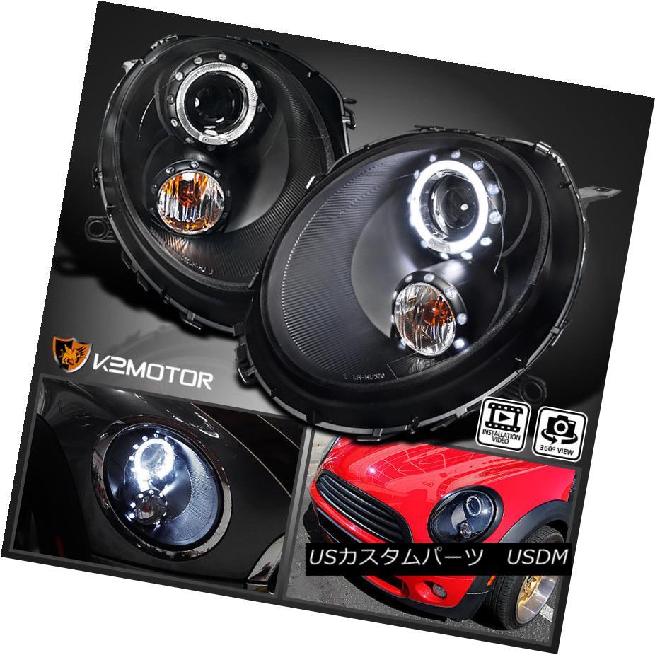 ヘッドライト 2007-2012 Mini Cooper Black Halo Pro Projector Headlights Lamps 2007-2012ミニクーパーブラックハロープロジェクターヘッドライトランプ
