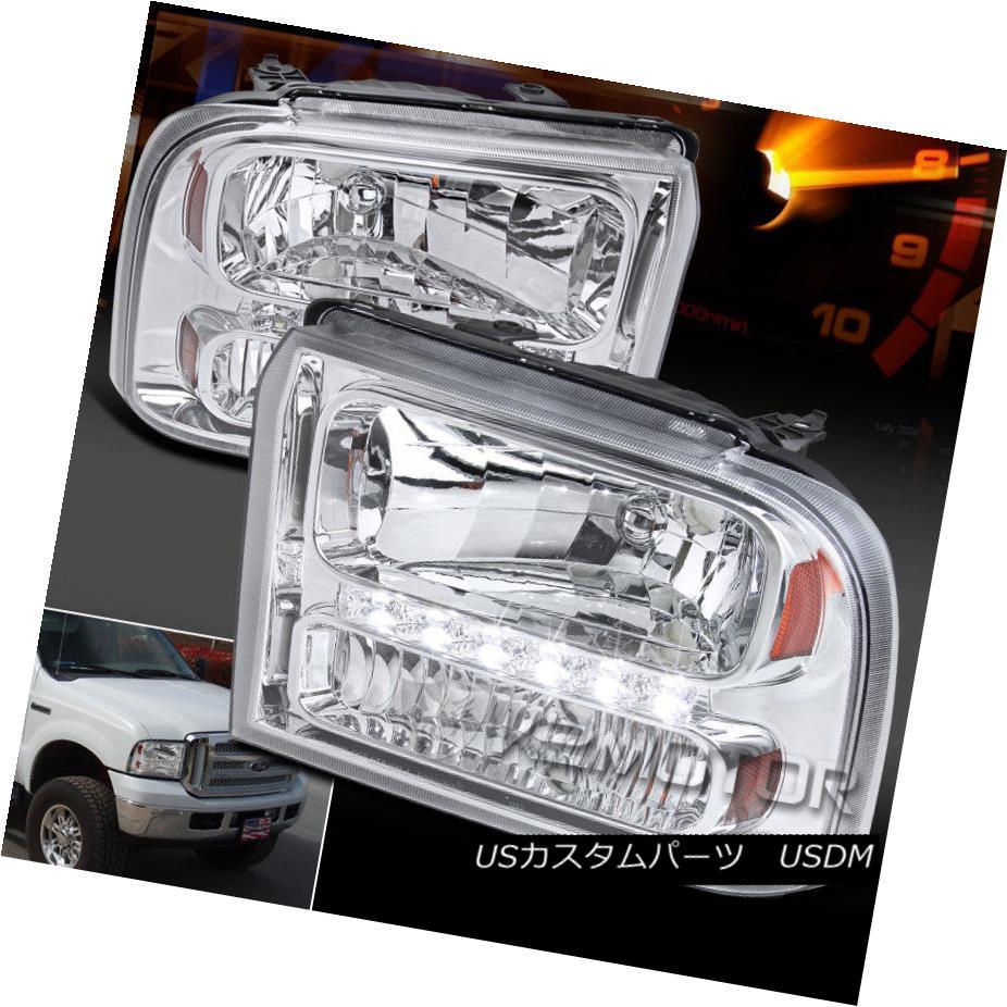 ヘッドライト 2005-2007 Ford F250 F350 F450 F550 SuperDuty Crystal Clear LED Headlights 2005-2007 Ford F250 F350 F450 F550 SuperDutyクリスタルクリアLEDヘッドライト