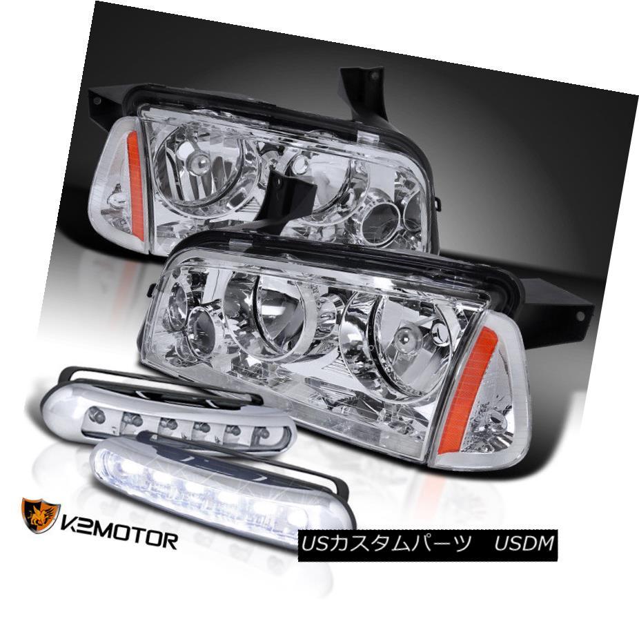 ヘッドライト 2006-2010 Dodge Charger Headlights w/ Corner Lights+6-LED Fog Driving Lamps 2006-2010 Dodge Chargerヘッドライト、コーナーライト+ 6-LEDフォグ駆動ランプ