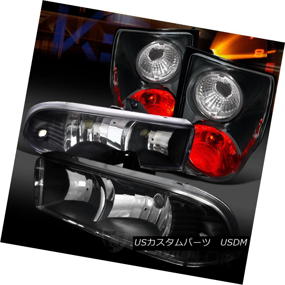 ヘッドライト 98-04 Chevy S10 Pickup Euro Black Headlights+Black Tail Brake Lamps 98-04 Chevy S10 Pickupユーロブラックヘッドライト+ Bla  ckテールブレーキランプ