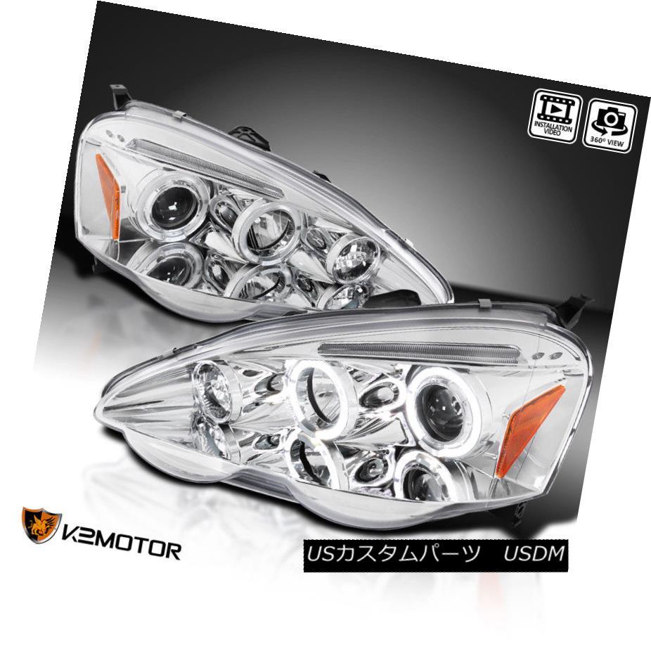 ヘッドライト 2002-2004 Acura RSX Dual Halo Projector Headlights Left+Right 2002-2004 Acura RSXデュアル・ハロープロジェクターヘッドライト左+右