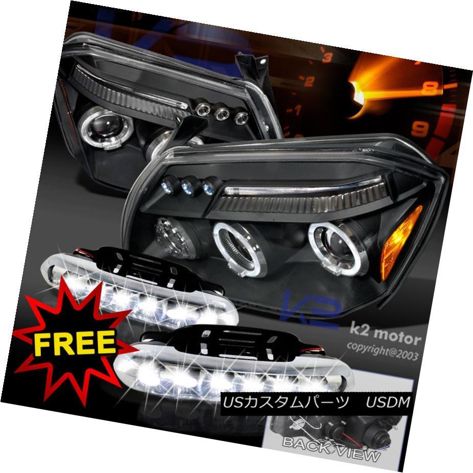 ヘッドライト 2005-2007 Dodge Magnum Halo Black Projector Headlights+LED DRL Fog Lamps 2005-2007 Dodge Magnum Haloブラックプロジェクターヘッドライト+ LED DRLフォグランプ
