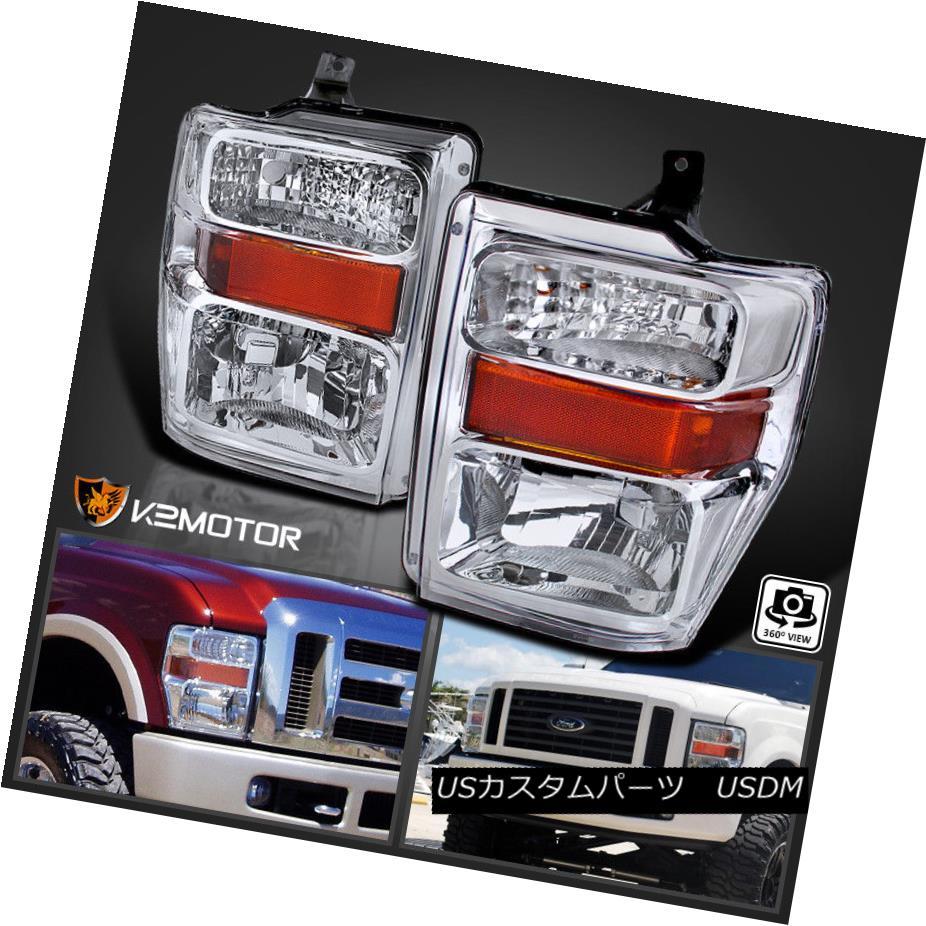 ヘッドライト 2008-2010 Ford F250 F350 F450 SuperDuty Crystal Clear Headlights Pair 2008-2010 Ford F250 F350 F450 SuperDutyクリスタルクリアヘッドライトペア