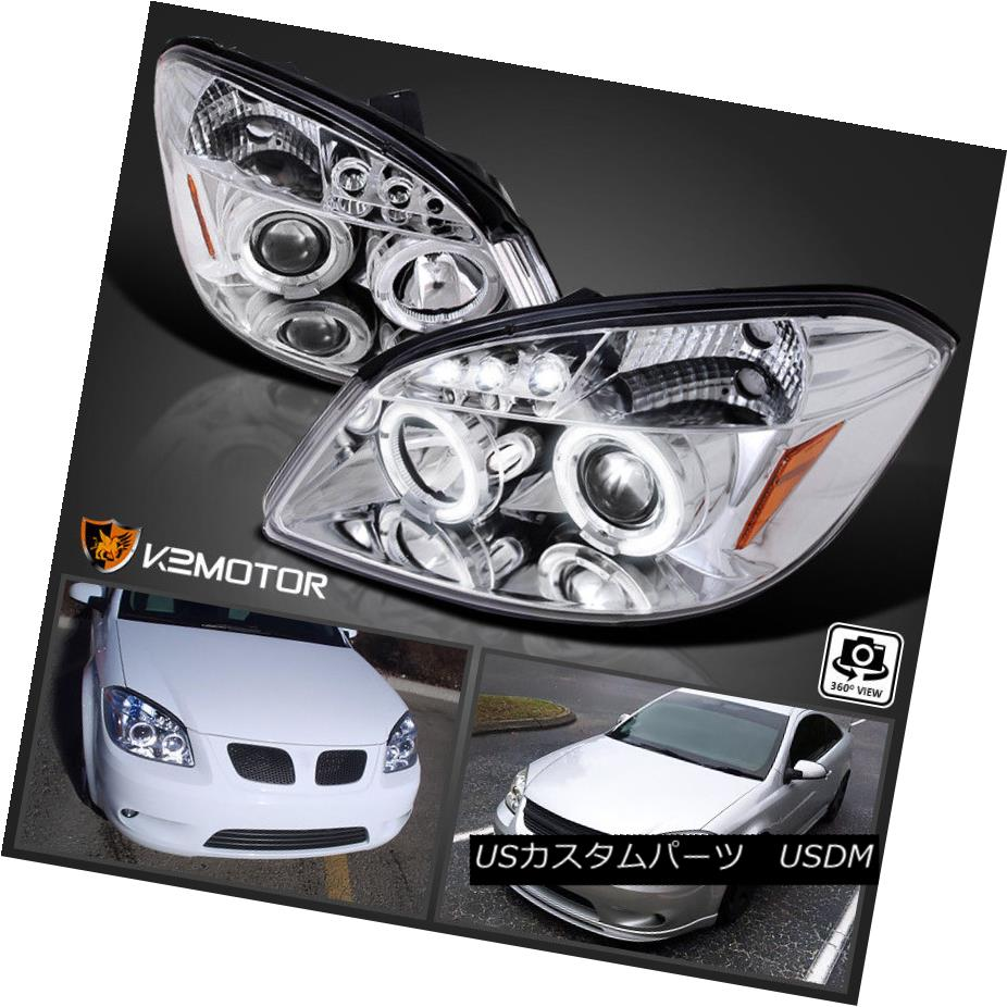 ヘッドライト 05-10 Chevy Cobalt 05-06 Pontiac Pursuit LED Halo Projector Headlights 05-10 Chevy Cobalt 05-06 Pontiac Pursuit LEDハロープロジェクターヘッドライト