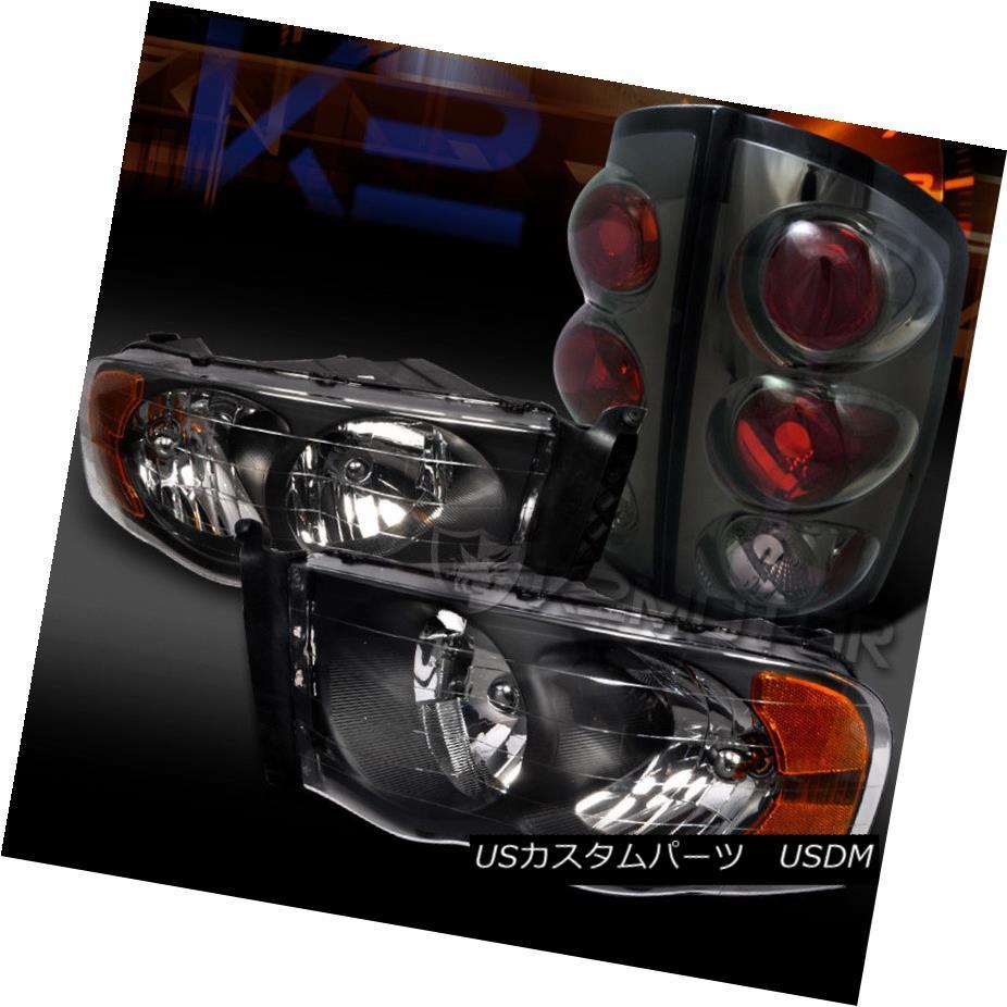 ヘッドライト 02-05 Dodge Ram 1500/2500/3500 Black Diamond Headlights+Smoke Tail Lights Head 02-05 Dodge Ram 1500/2500/3500ブラックダイヤモンドヘッドライト+ Smo  keテールライトヘッド