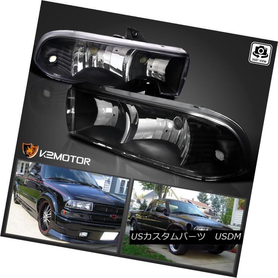ヘッドライト 1998-2004 Chevy S10 Blazer Pickup Black Headlights Headlamps 1998-2004シボレーS10ブレザーピックアップブラックヘッドライトヘッドランプ