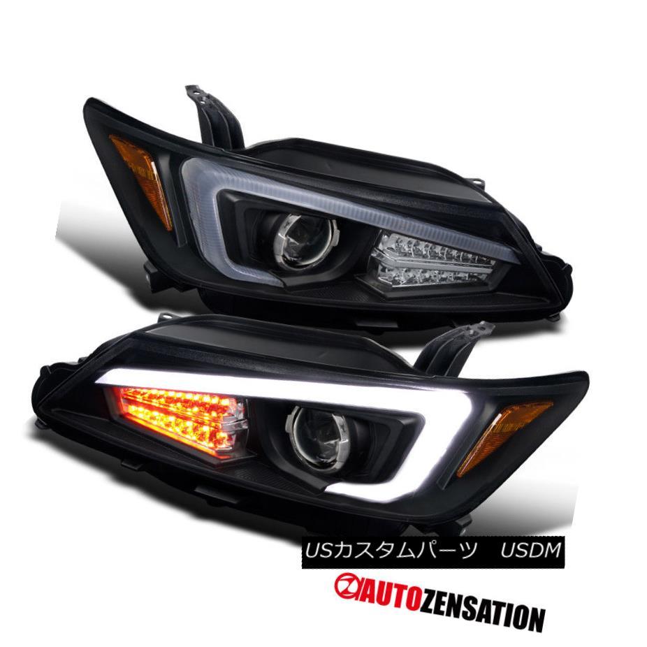 ヘッドライト Scion 11-13 tC Coupe Euro Black Projector Headlights w/ LED Light Bar+LED Signal サイオン11-13 tCクーペユーロブラックプロジェクターヘッドライト(LEDライトバー+ LED信号付き)