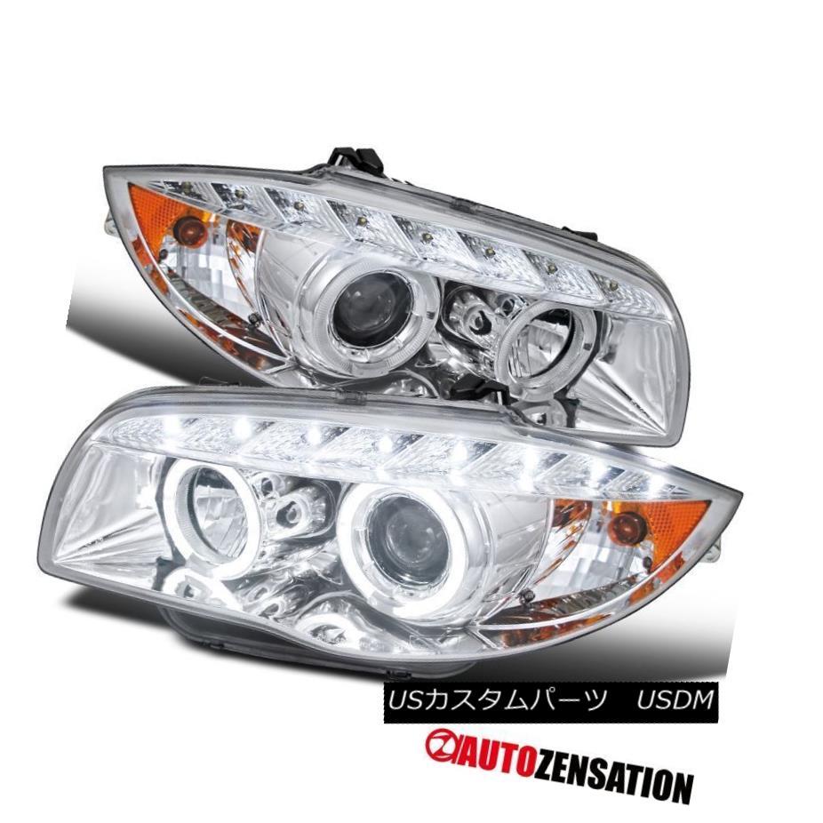 ヘッドライト BMW 04-11 E87/ 07-13 E88/E82 1-Series Chrome Halo Projector LED Headlights BMW 04-11 E87 / 07-13 E88 / E82 1シリーズクロームハロープロジェクターLEDヘッドライト