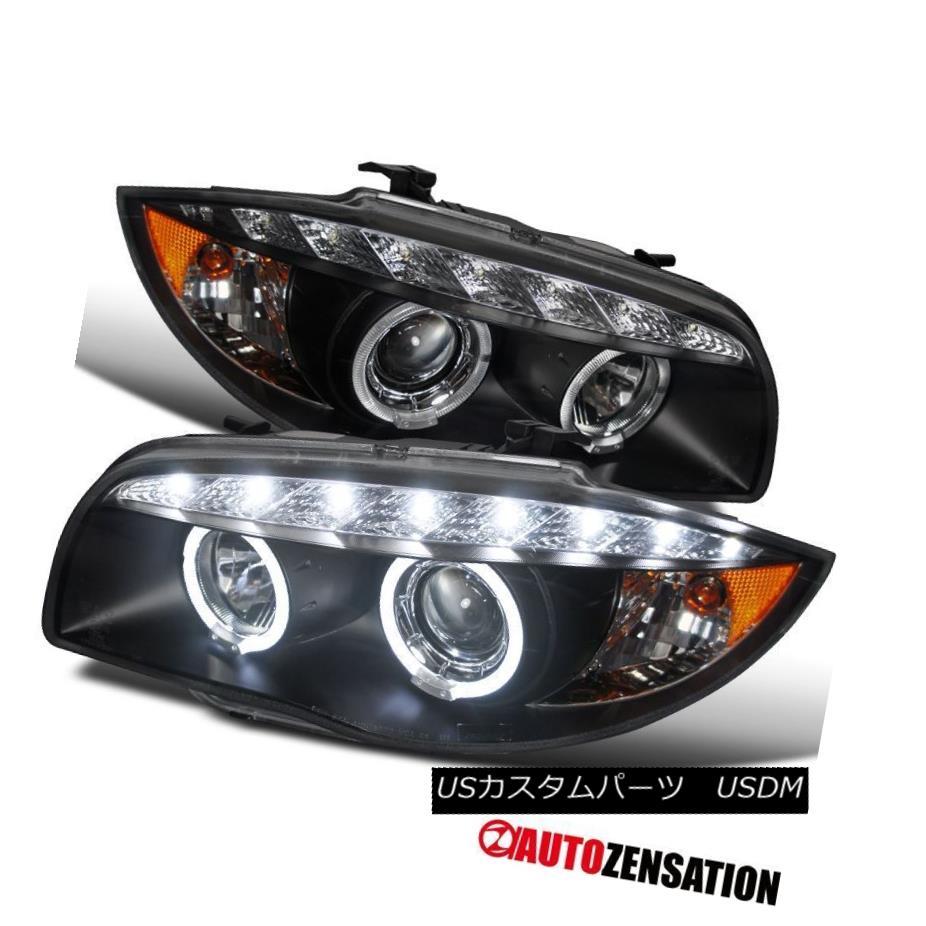 ヘッドライト BMW 04-11 E87/ 07-13 E88/E82 1-Series Black Halo Projector LED Headlights BMW 04-11 E87 / 07-13 E88 / E82 1シリーズブラックハロープロジェクターLEDヘッドライト