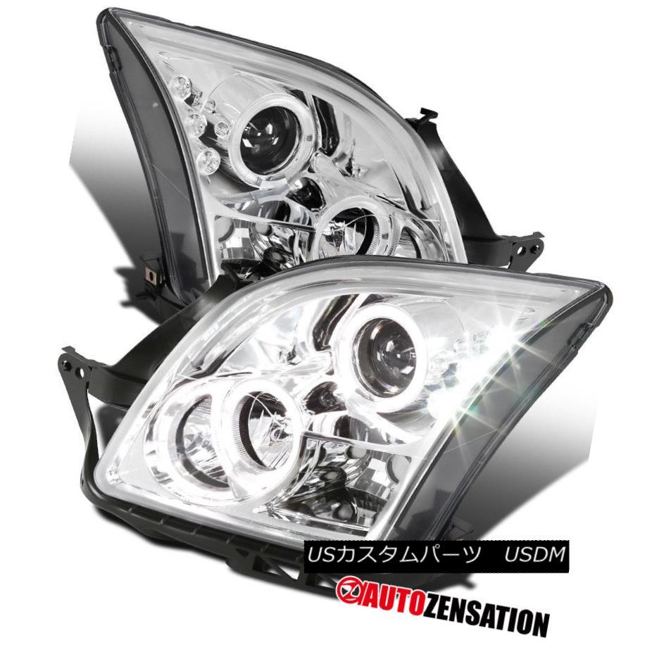 ヘッドライト 06-09 Ford Fusion Chrome LED Halo Projector Headlights Lamps 06-09フォードフュージョンクロームLEDハロープロジェクターヘッドライトランプ