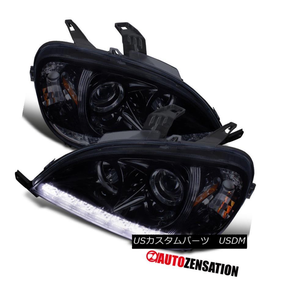 ヘッドライト 98-01 Benz W163 ML320 ML430 ML55 AMG SMD LED Glossy Black Projector Headlights 98-01ベンツW163 ML320 ML430 ML55 AMG SMD LED光沢ブラックプロジェクターヘッドライト