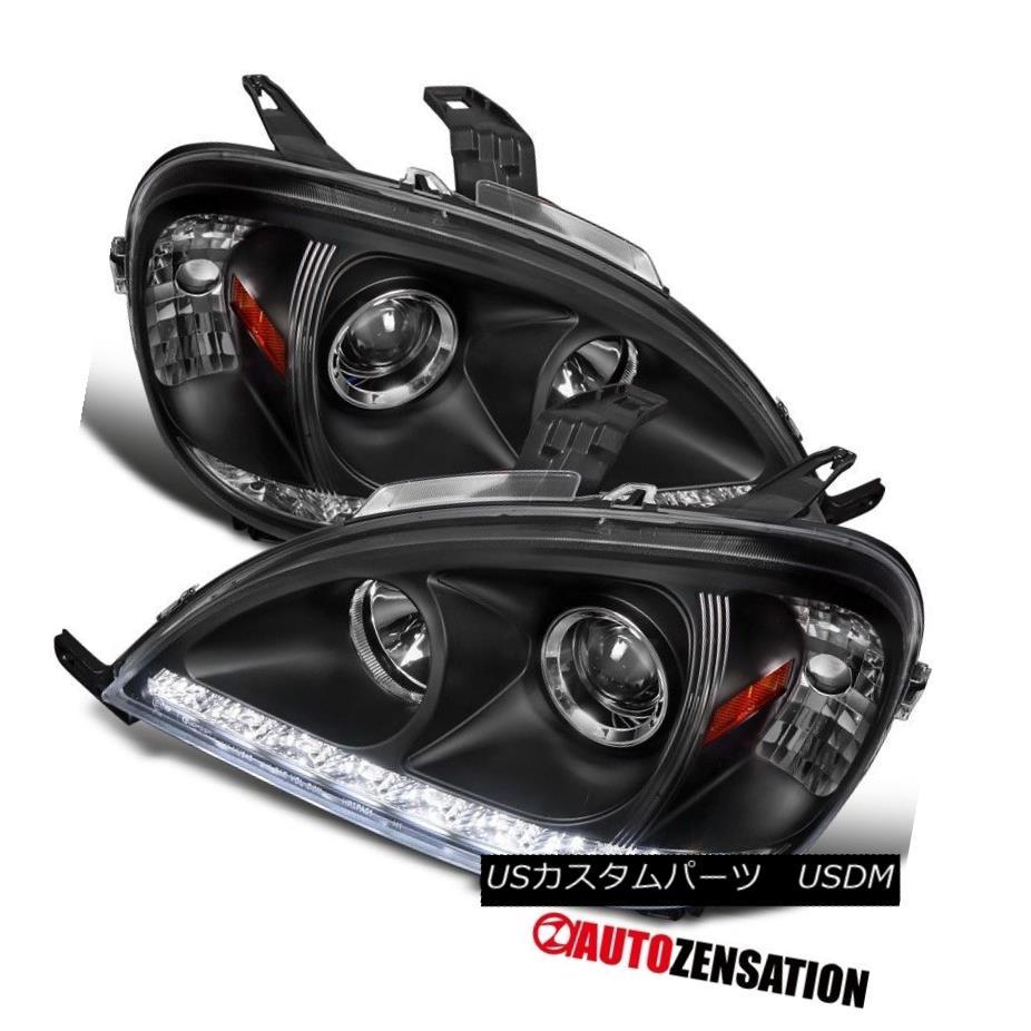 ヘッドライト 2002-2005 Benz W163 ML320 ML350 Ml55 AMG Black SMD LED DRL Projector Headlights 2002-2005ベンツW163 ML320 ML350 Ml55 AMGブラックSMD LED DRLプロジェクターヘッドライト