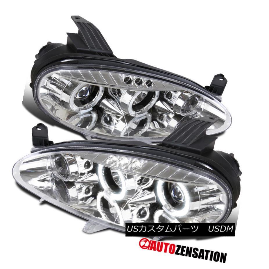 ヘッドライト 2001-2005 Mazda Miata MX-5 Chrome LED Dual Halo Projector Headlights Replacement 2001-2005マツダMiata MX - 5クロームLEDデュアルハロープロジェクターヘッドライトの交換