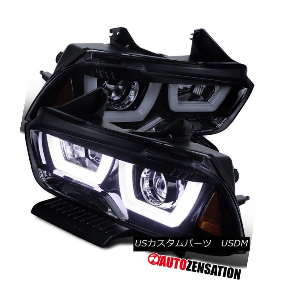 ヘッドライト 2011-2014 Dodge Charger Dual Halo LED Projector Headlights Glossy Black/Smoke 2011-2014 Dodge Chargerデュアル・ハローLEDプロジェクター・ヘッドライトGlossy Black / Smoke