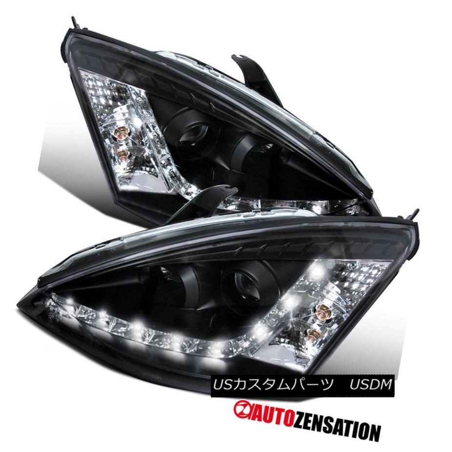 ヘッドライト 2000-2004 Ford Focus R8 LED DRL Projector Headlights Black 2000-2004フォードフォーカスR8 LED DRLプロジェクターヘッドライトブラック