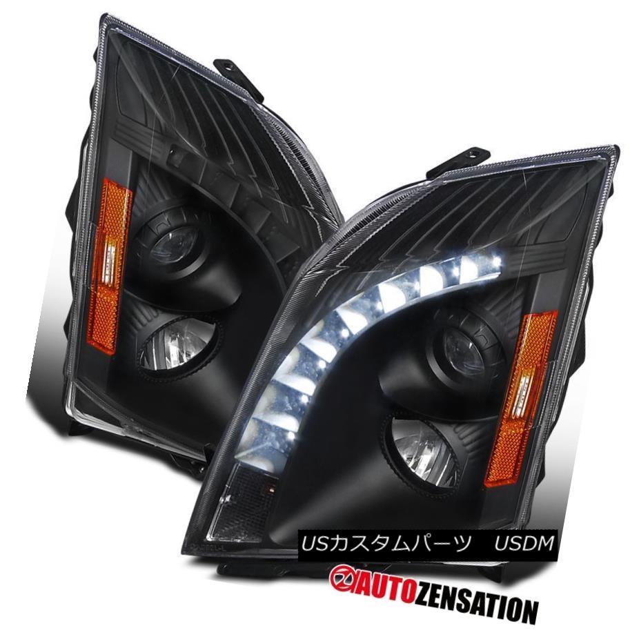 ヘッドライト 2008-2014 Cadillac CTS Replacement Black SMD LED Projector Headlights Head Lamps 2008-2014キャデラックCTS交換用ブラックSMD LEDプロジェクターヘッドライトヘッドランプ