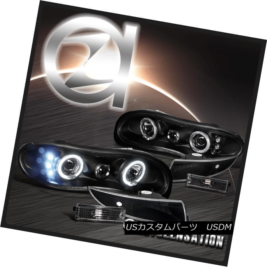 ヘッドライト 98-02 Camaro Black Halo LED Projector Headlights & Front/Rear Bumper Lights 98-02カマロブラックハローLEDプロジェクターヘッドライト& フロント/リアバンパーライト