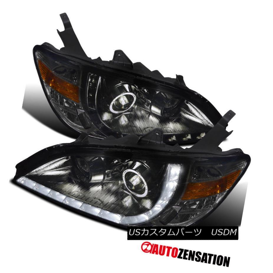 ヘッドライト For 2004-2005 Honda Civic 2Dr 4Dr Smoke R8 LED Projector Headlights Head Lamps 2004 - 2005年ホンダシビック2Dr 4DrスモークR8 LEDプロジェクターヘッドライトヘッドランプ