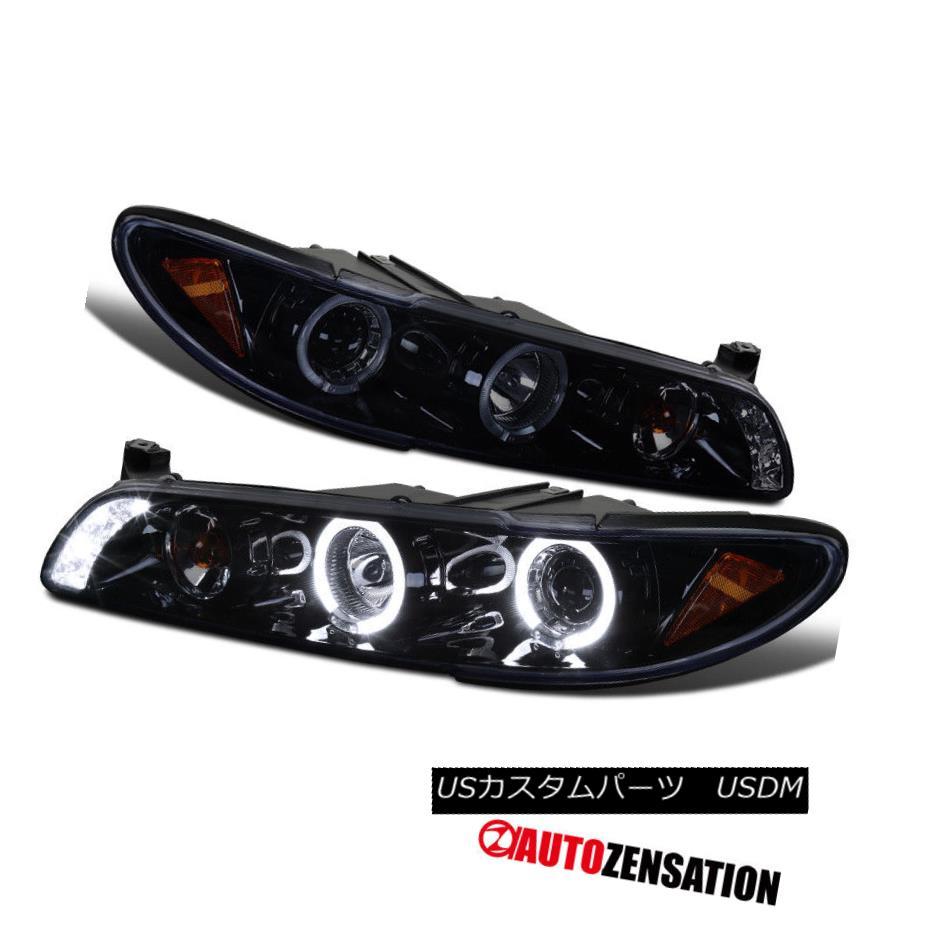 ヘッドライト 97-03 Pontiac Grand Prix [Glossy Black] LED DRL Halo Projector Headlights 97-03ポンティアックグランプリ[Glossy Black] LED DRLハロープロジェクターヘッドライト