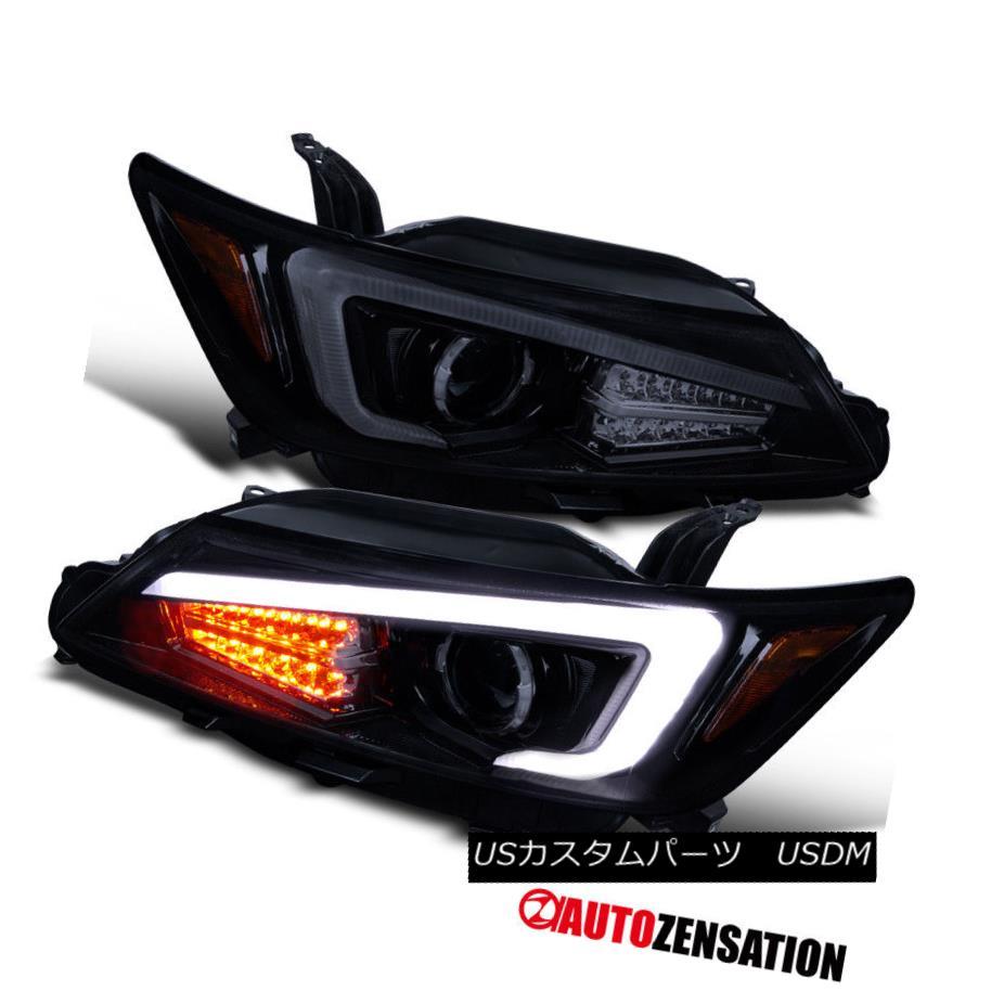 ヘッドライト Scion 11-13 tC Coupe Glossy Black LED Signal+LED Light Bar Projector Headlights サイオン11-13 tC Coupe GlossyブラックLEDシグナル+ LEDライトバープロジェクターヘッドライト