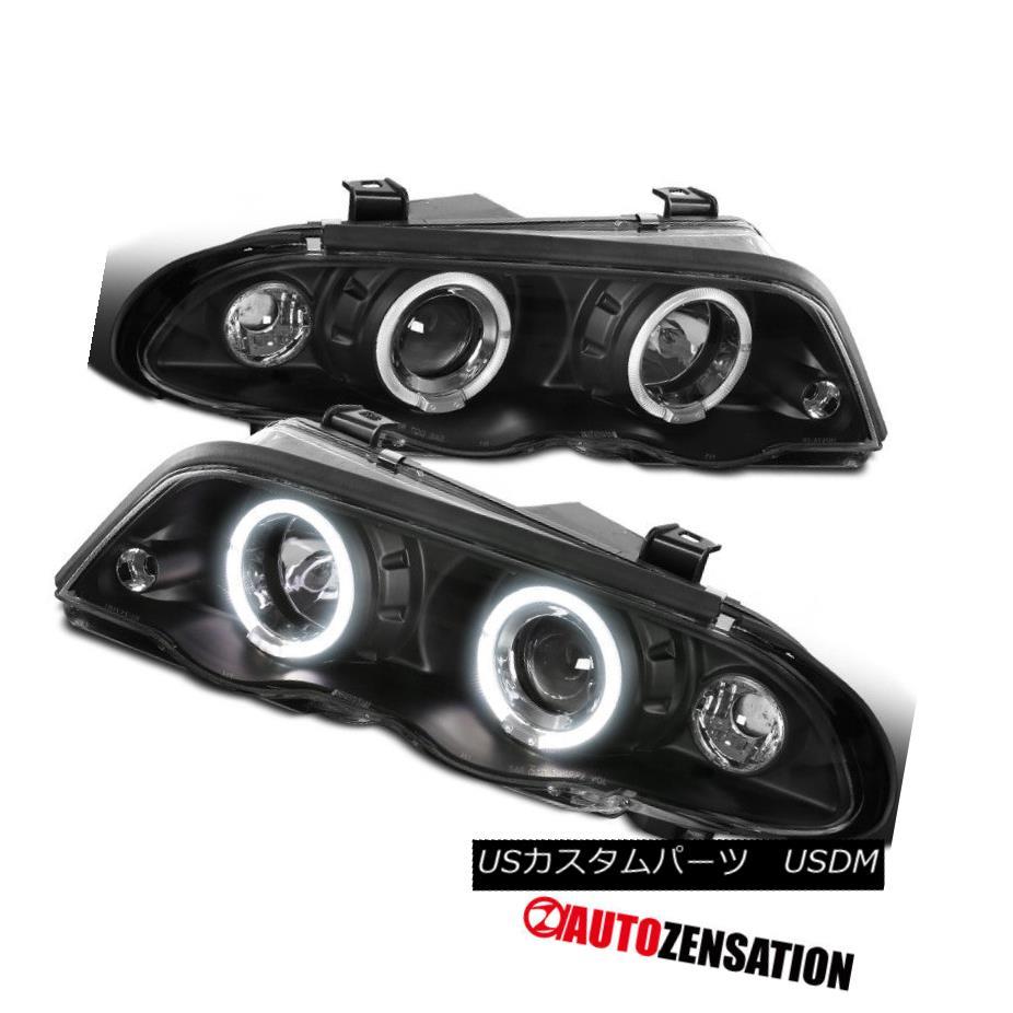 ヘッドライト 99-01 BMW E46 3-Series 4Dr Sedan Black Halo Projector Headlights 99-01 BMW E46 3シリーズ4Drセダンブラックハロープロジェクターヘッドライト
