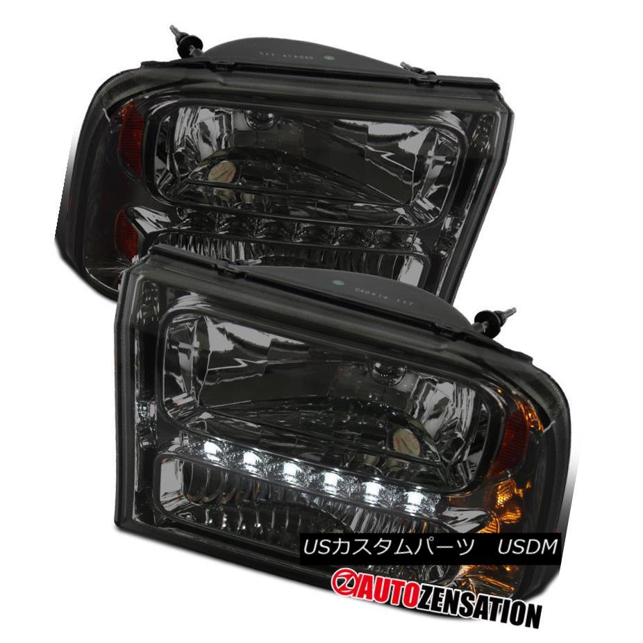 ヘッドライト Ford 99-04 F250 F350 Superduty 00-04 Excursion Smoke LED 1PC Style Headlights Ford 99-04 F250 F350 Superduty 00-04エクスカーション煙LED 1PCスタイルヘッドライト
