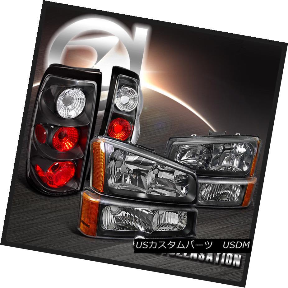 ヘッドライト 03-06 Silverado Black Headlights+Bumper+Black Tail Brake Light 03-06 Silverado Blackヘッドライト+ Bum  + Blackテールブレーキライト