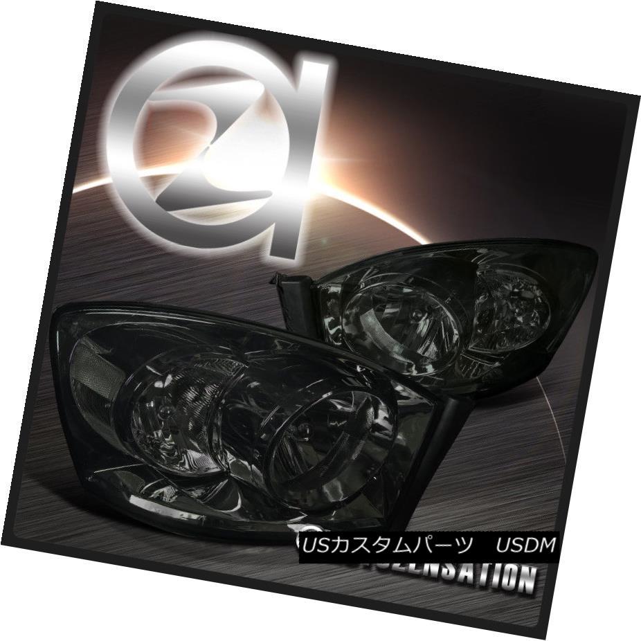 ヘッドライト 06-08 Dodge Ram 1500 2500 3500 Crystal Smoke Tint Headlights Pair 06-08 Dodge Ram 1500 2500 3500クリスタルスモークティントヘッドライトペア