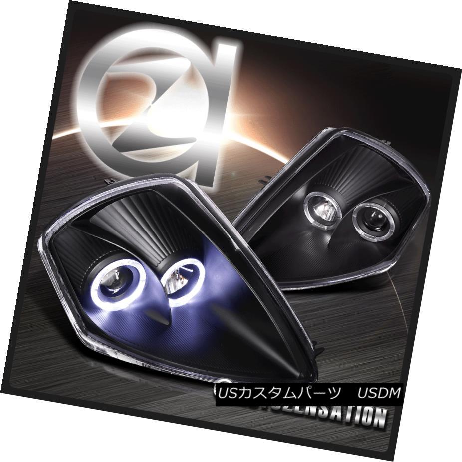 ヘッドライト 00-05 Mitsubishi Eclipse Black Dual Halo Projector Headlights 00-05三菱Eclipse Blackデュアル・ハロー・プロジェクター・ヘッドライト