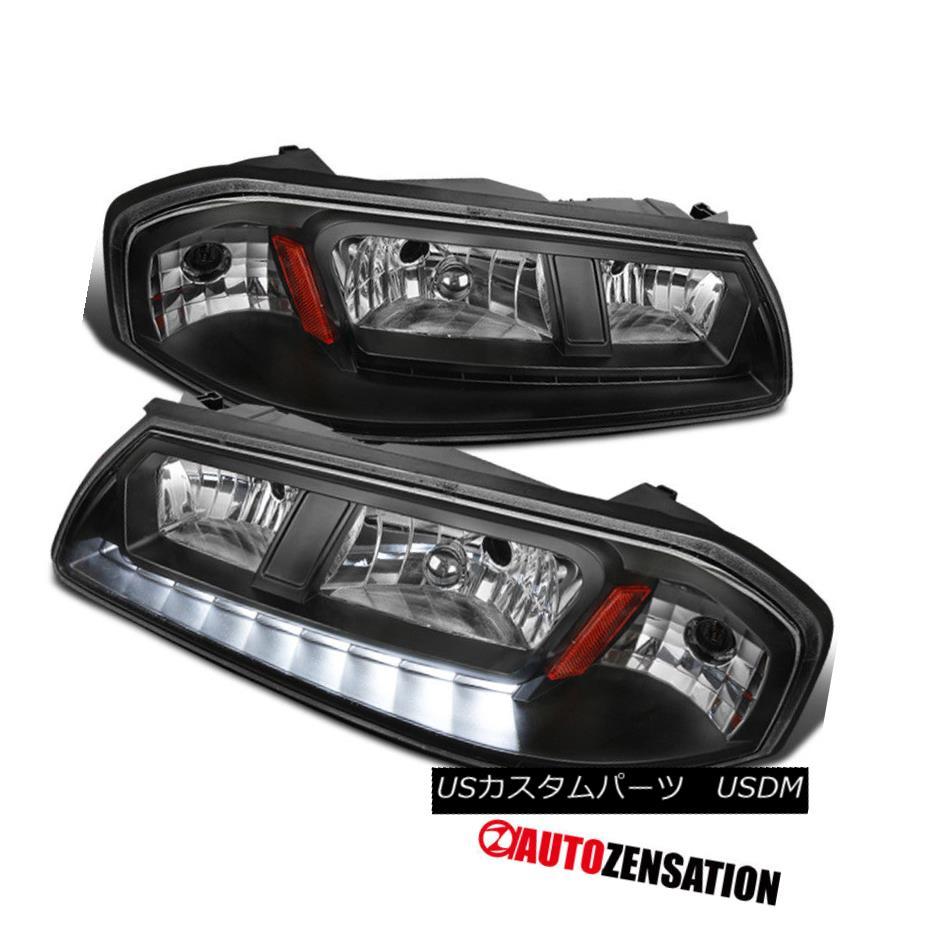 ヘッドライト 2000-2005 Chevy Impala LED DRL Headlights Black Clear Pair Left+Right 2000-2005シボレーインパラLED DRLヘッドライトブラッククリアペア左+右