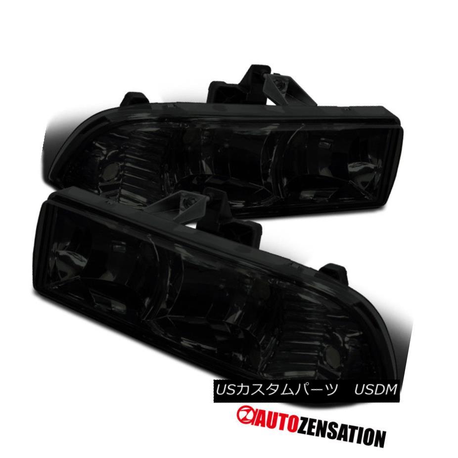 ヘッドライト 98-04 Chevy Blazer S10 Pickup Crystal Smoke Tinted Lens Headlights Pair 98-04 Chevy Blazer S10ピックアップクリスタルスモークティント付きレンズヘッドライトペア