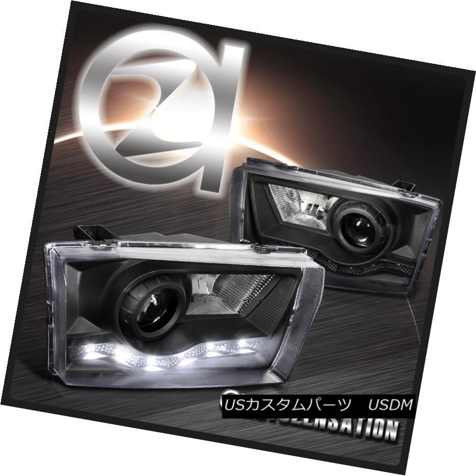 ヘッドライト 99-04 F250 Excursion Black SMD LED Strips Projector Headlights Head Lamps 99-04 F250エクスカーションブラックSMD LEDストリッププロジェクターヘッドライトヘッドランプ