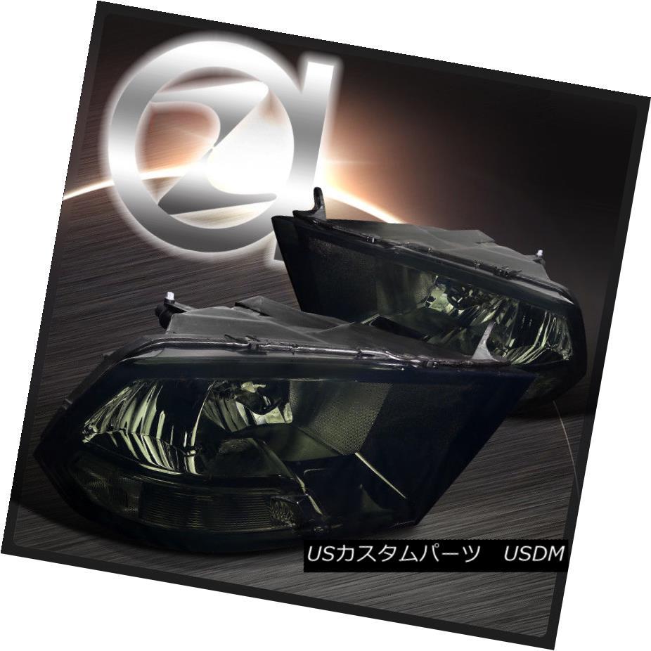 ヘッドライト 09-17 Dodge Ram Pickup Crystal Smoke Headlights Clear Reflector LH+RH 09-17ダッジラムピックアップクリスタルスモークヘッドライトクリアリフレクターLH + RH
