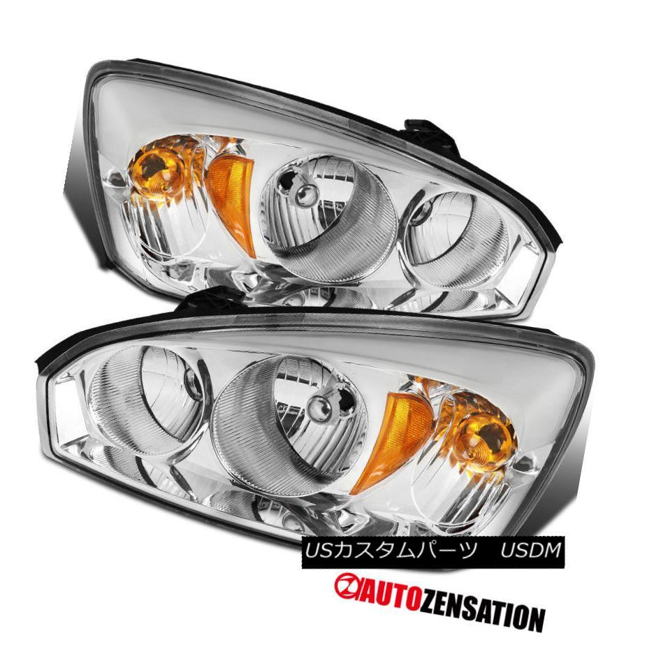 ヘッドライト 2004-2008 Chevy Malibu Sedan Chrome Clear Front Headlights Lamps Left+Right Pair 2004-2008シボレーマリブセダンクロームクリアフロントヘッドライトランプ左+右ペア