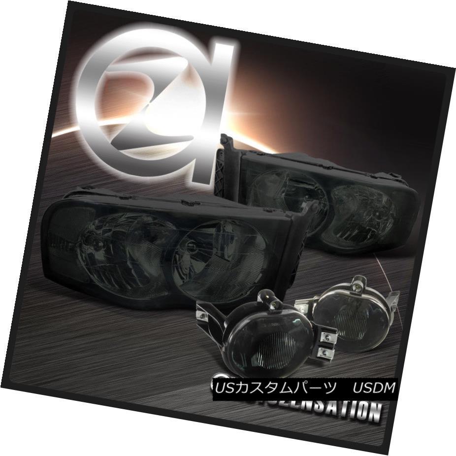 ヘッドライト 02-05 Dodge Ram 1500 03-05 Ram 2500 3500 Crystal Smoke Headlights+Fog Lamps Kit 02-05 Dodge Ram 1500 03-05 Ram 2500 3500クリスタルスモークヘッドライト+フォグランプキット