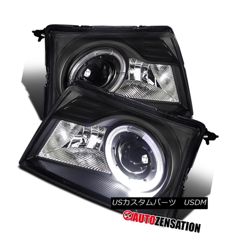 ヘッドライト 98-00 Ford Ranger Black Clear Halo Projector Headlights 98-00 Ford Rangerブラッククリアハロープロジェクターヘッドライト